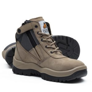 Mongrel 961060 Stone Non-Safety Zipsider Boot
