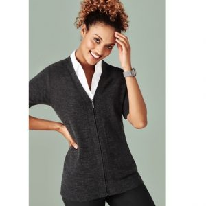 Bizcare CK962LC Womens Zip Front Short sleeve cardigan