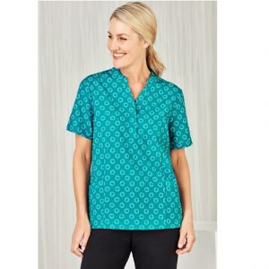Bizcare CS950LS Women's Easy Stretch Daisy Print Tunic