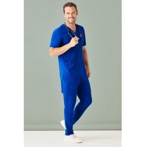 Bizcare CSP946ML Mens Multi-Pocket Scrub Pant