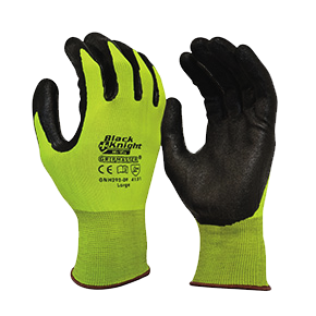 GNH292 Maxisafe Black Knight Gripmaster HiVis Glove