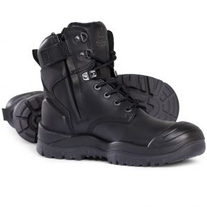 Mongrel 561020 Black High Ankle ZipSider Boot