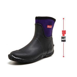 Sloggers Women's Leisure Boots Black Plum