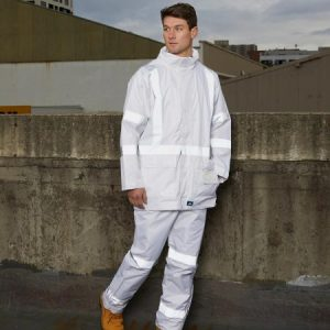 8622 Rainbird Workwear Night-Vis White Taped Jacket