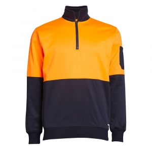 MMW18555 Diadora Men's Hi Vis 1/4 Zip Fleece Sweat