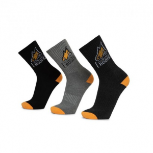 Mongrel Cotton Socks - 5 Pack - 1x Black, 2x Dark Grey, 2x Light Grey