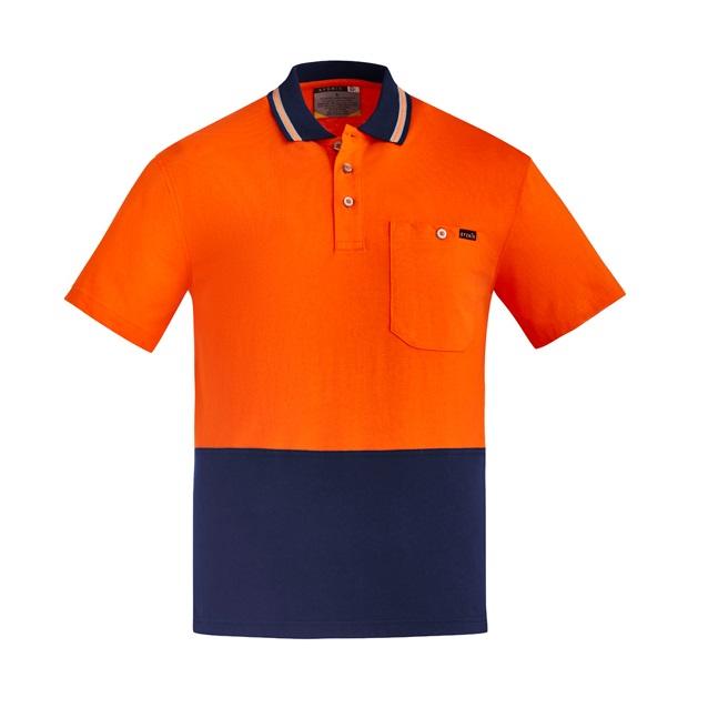Coalface Workwear Syzmik ZH435_OrangeNavy_F