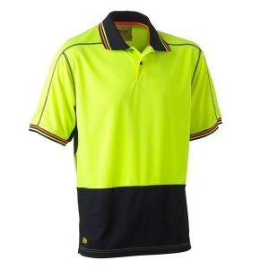Bisley BK1219 Two Tone Hi Vis Polyester Mesh S/S Polo Shirt