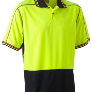 Bisley BK1219 Two Tone Hi Vis Polyester Mesh Short Sleeve Polo Shirt