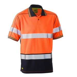 Bisley BK1219T Taped Two Tone Hi Vis Polyester Mesh S/S Polo Shirt