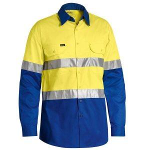Bisley BS6696T Taped Hi Vis Cool Lightweight L/S Shirt