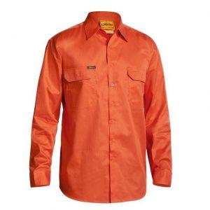 Bisley BS6894 Mens Cool Lightweight Gusset Cuff Hi Vis Drill Shirt