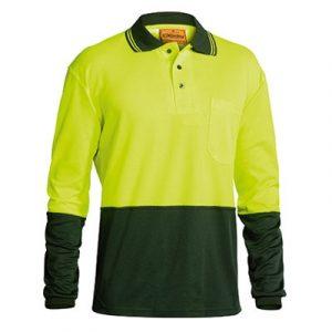 Bisley BK6234 Two Tone Hi Vis Polo Shirt Long Sleeve