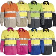 Bisley BS6696T 2 Tone Hi Vis Cool Lightweight Long Sleeve Shirt