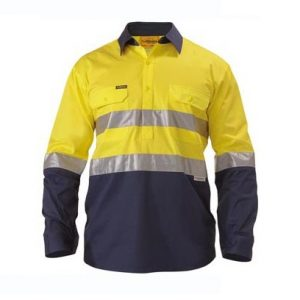 Bisley BSC6896 2 Tone Hi Vis Cool Lightweight Closed Front Shirt