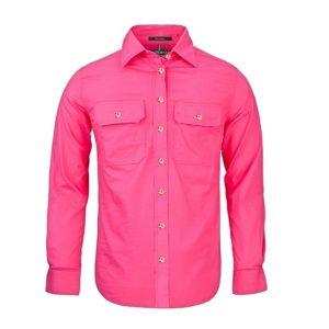 Pilbara RM600BT Women's Pilbara Open Front L/S Shirt