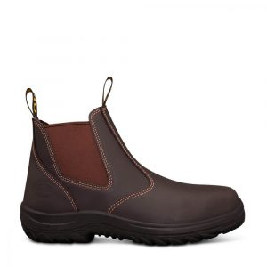 Oliver 34-626P Safety Claret Elastic Sided Boot With Penetration Protection