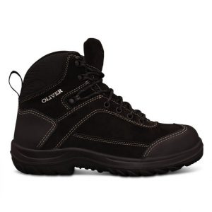 Oliver 34-623 Safety Black Lace Up Ankle JBoot