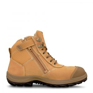 Oliver 34-662 Safety Wheat Zip Sided Ankle Boot