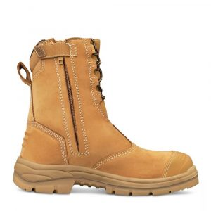 Oliver 55-385 Safety 200mm Hi-Leg Wheat Zip Sided Boot