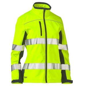 Bisley BJL6059T Women's Taped Two Tone Hi Vis Soft Shell Jacket