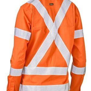 Bisley BL6166XT Women's Taped X Back Bio Motion Hi Vis Cool Lightweight L/S Shirt