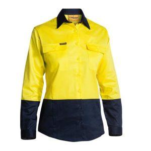 Bisley BL6267 Women's Hi Vis L/S Drill Shirt