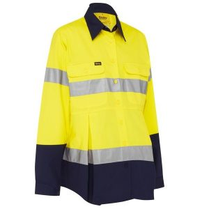 Bisley BLM6456T 3M TAPED HI VIS MATERNITY DRILL SHIRT