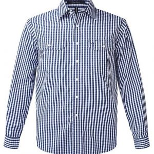 Pilbara RMPC004 Men's Check L/S Shirt