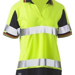 Bisley BKL1225T Women's Taped Two Tone Hi Vis V-Neck