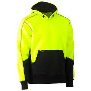 Bisley BK6619 Hi Vis Two Tone Fleece Pullover Hoodie