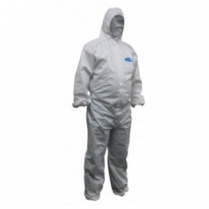 Maxisafe Koolguard COT619 Laminated Disposable White Coveralls
