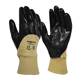 Maxisafe GNB130 Blue Knight 3/4 Nitrile Coated Glove