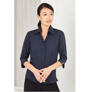 Bizcare LB3600 LADIES PLAIN OASIS 3-4 SLEEVE SHIRT