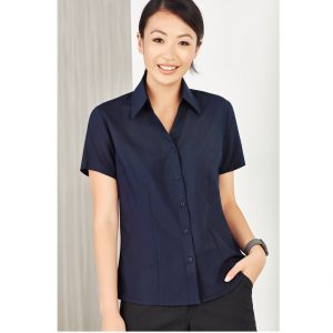 Bizcare LB3601 LADIES PLAIN OASIS SHORT SLEEVE SHIRT