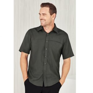 Bizcare SH3603 MENS PLAIN OASIS SHORT SLEEVE SHIRT