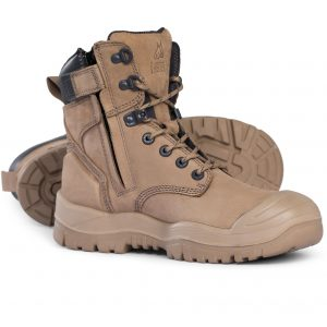 Mongrel 561060 Stone High Ankle ZipSider Safety Boot