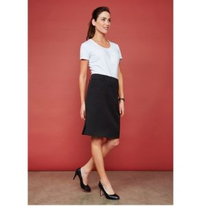 Biz Collection BS612S LADIES DETROIT FLEXI-BAND SKIRT