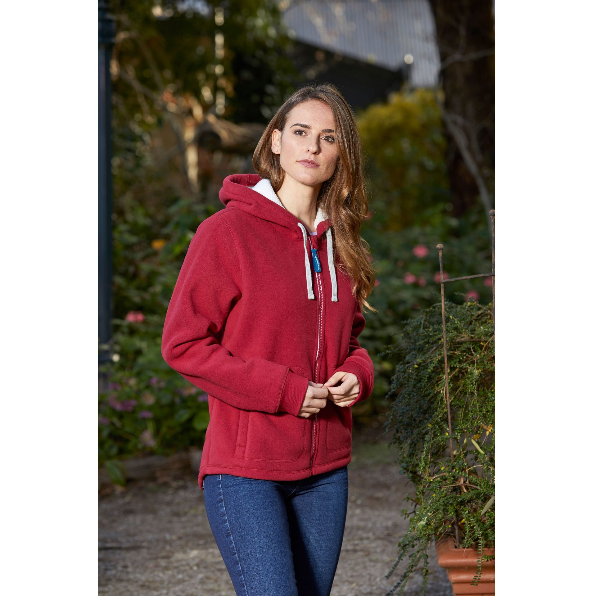 LANNING-SHERPA-HOODIE-5233-SPICED-RED