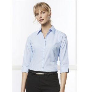 Biz Collection LB8200 LADIES MICRO CHECK 3/4 SLEEVE SHIRT
