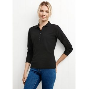 Biz Collection P400LL CREW LADIES L/S POLO