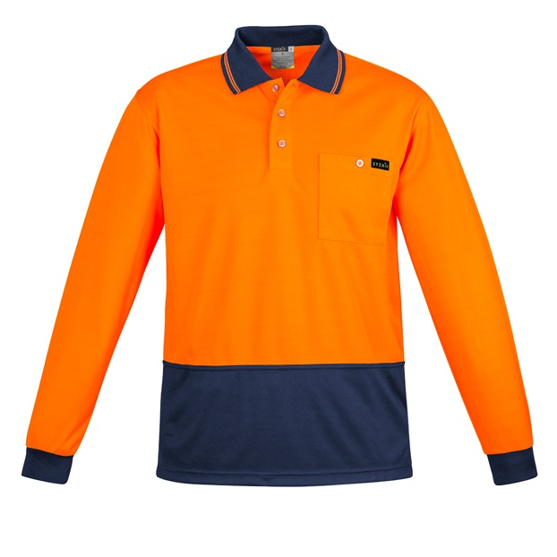 Coalface Workwear Syzmik ZH410_OrangeNavy_F