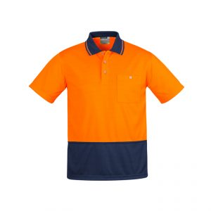 Syzmik ZH415 MENS COMFORT BACK S/S POLO