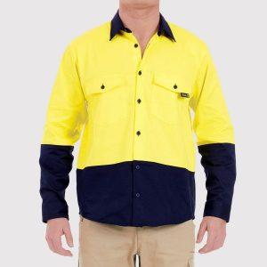 Tradie MJ1938ST Mens Flex Hi-Vis L/S Shirt