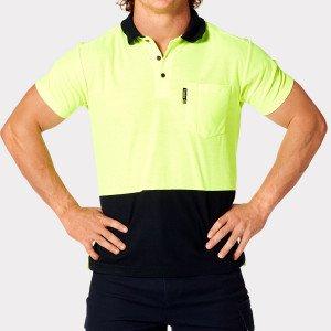 Tradie MJ3223ST Mens Flex Hi Vis Polo