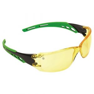PRO CHOICE 9185 CIRRUS GREEN ARMS SAFETY GLASSES AMBER A/F LENS 12 PAIRS