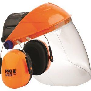PRO CHOICE BGVCEADD BROWGUARD + CLEAR VISOR + ADDER EARMUFF COMBO