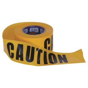 PRO CHOICE CT10075 BARRICADE TAPE - 100M X 75MM CAUTION PRINT