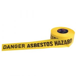 PRO CHOICE DADH30075 BARRICADE TAPE - 300M X 75MM DANGER ASBESTOS DUST HAZARD PRINT