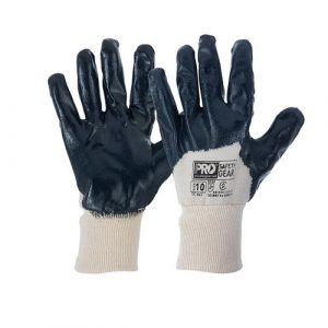 PRO CHOICE NBRB SUPER-LITE BLUE 3/4 DIPPED GLOVES 12 PAIRS